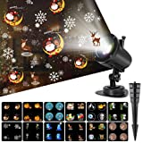 Christmas Projector Lights, Ocean Wave LED Light Projector Dynamically Changing Colorful Landscape Lights Waterproof Outdoor Indoor Xmas Party Yard Garden Decorations (Color: Black)