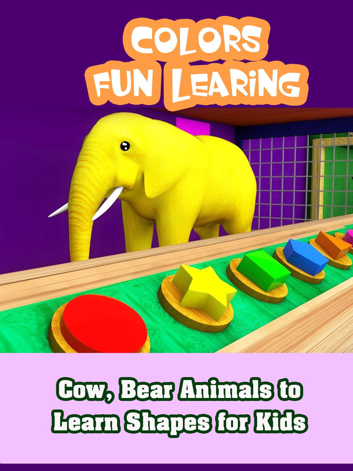 Cow, Bear Animals to Learn Shapes for Kids