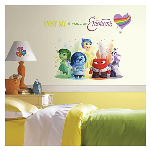 RoomMates RMK2999TB Inside Out Burst Peel and Stick Giant Wall Decals 6 Count