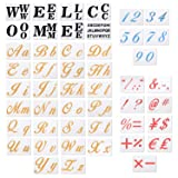 48 Pack Large Size Alphabet Letter Templates Numeric Symbols Hotel Welcome Sign Stencils for Painting on Wood and Wall DIY Country Style Signs Home School Decorations