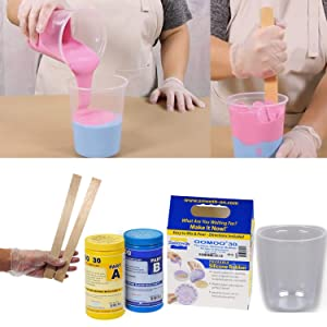 DIY Molding and Casting Set Smooth-On Silicone Mold Making Liquid Rubber OOMOO 30 with Mixing Supplies Kit