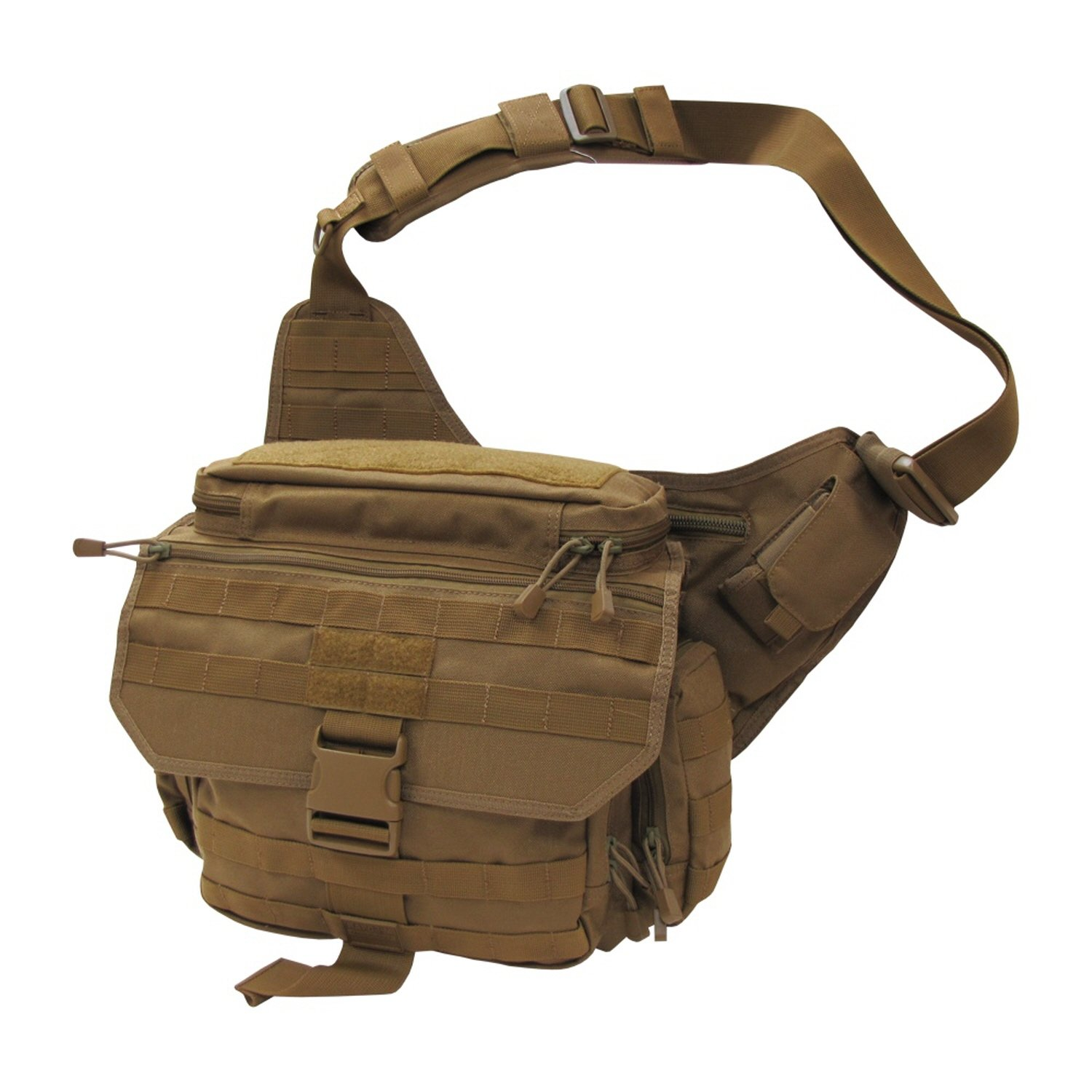 "RAPDOM Tactical Messenger Bag (Coyote, 14""W x 12""H x 6.5"" D)"
