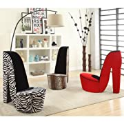 ... Metro Shop High Heel Shoe Fabric Chair Zebra High Heel Shoe Chair