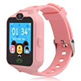HSX_Z Phone Watch for Kids Smart Watch for Kids with Digital Camera Touch Screen, Phone Game Cool Toys Watch Gifts for Girls Boys Children Birthday Gifts Watch£­Pink (Color: phone watch-pink)