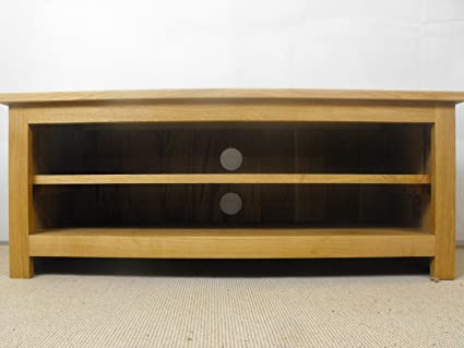 Low Solid Oak TV Unit, stand or cabinet, 800x400mm 1 adjustable shelf, ideal for the living room or lounge