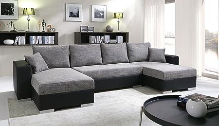 Sofa Couchgarnitur Couch Sofagarnitur TIGER 6 U Polstergarnitur Polsterecke Wohnlandschaft mit Schlaffunktion