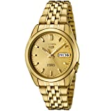 Seiko Men's SNK366K Seiko 5 Automatic Gold Dial Gold-Tone Stainless Steel Watch (Color: Gold)