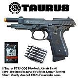Taurus PT99 CO2 Full Metal blowback Airsoft Gun, Pistol Lancer Tactical and Swiss Arms combo