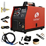140 Amp MIG Wire Welder, Flux Core & Aluminum Gas Shielded Welding with 2T/4T Switch Argon Regulator, Metal Wire Feeder (Color: Red, Tamaño: 1-(Pack))