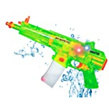 Liberty Imports Battery Operated Motorized Automatic Electric Super Water Gun Soaker Blaster (Green (MP5)) (Color: Green (Mp5))