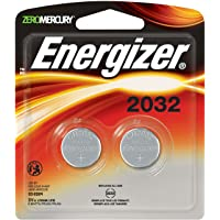 Energizer 2032 3 Volts Watch/Electronic 2 Batteries (Lithium Button Cell)