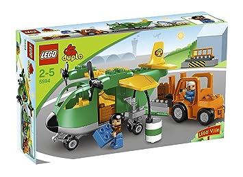 LEGO - 5594 - DUPLO Ville - Jeu de construction - Aéroport - L'avion Cargo