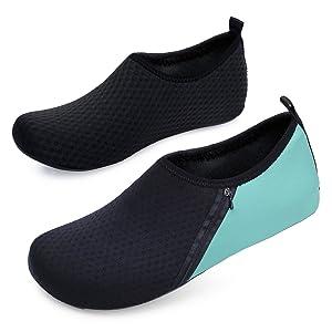 5227bf0a2612 JIASUQI Mens Beach Walking Sandals Water Shoes for Pool Swim Zip Green US  7.5-8.5 Women