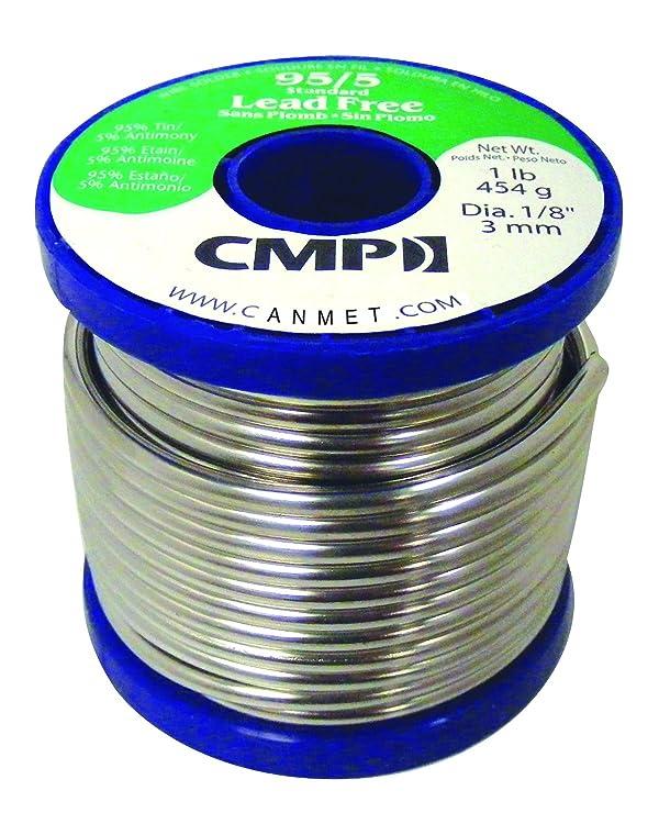 CMP Lead Free Solder WSP95512501 95/5 Tin/Antimony Standard Lead Free Solder, 1 Pound Spool, 1/8 Diameter