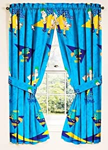 Disneys Phineas and Ferb Drapes