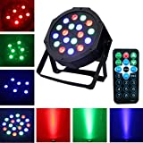 DJ Disco Party Par Stage Lights Sbolight Led 18 Par Dmx Rgbw Effect Projector Lights for Stage Lighting With Remote Control for Dancing Christmas Halloween Thanksgiving KTV Bar Vocal Concert Birthday (Color: black)