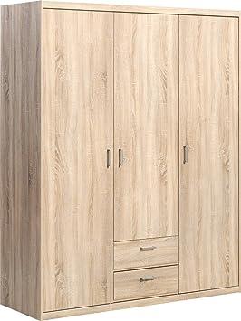 CS Schmalmöbel 51/140 Kleiderschrank, Holz, eiche, 157 x 54 x 194 cm
