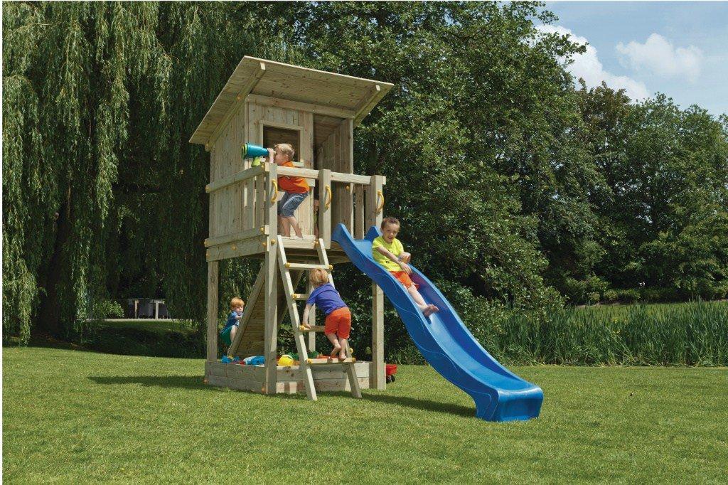 Spielturm Beach Hut – Blue Rabbit 2.0 – Bausatz Rutsche 240cm/300cm Kletteerturm günstig kaufen
