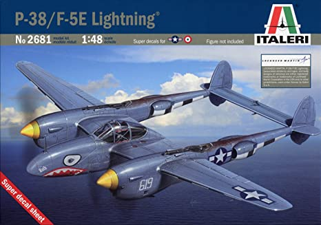 T2M - I2681 - Italeri - Maquette Plastique à Assembler - F-5e Lightning - Echelle 1/48