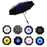 BESTFUN Travel Umbrella - lightweight Rain Umbrella for Men and Women, Windproof Folding Compact Umbrellas with Multiple Colors (blue) (Color: Blue)
