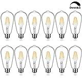 LED Edison Bulb Dimmable, 4W Vintage LED Filament Light Bulbs, Warm White 2200K SHINE HAI ST64 Antique Style LED Bulb 40W Equivalent, E26 Medium Base, Pack of 12 (Color: 2200K, Tamaño: Dimmable ST64)
