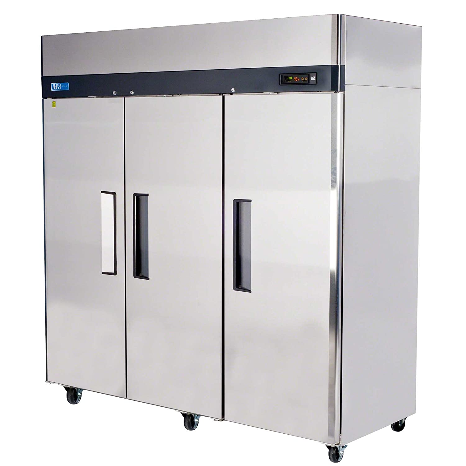 "Turbo Air (M3F72-3) - 78"" Reach-In Solid Door Freezer - M3 Series"
