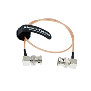 RG179 Coax BNC Right Angle Male to Male Cable for BMCC Video Blackmagic Camera (Color: Right to Right 50CM)