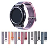 Cumeou Gear S3 Frontier Band, Nylon Replacement Bands 22mm Quick Release Breathable Bracelet Strap for Samsung Gear S3 Classic/Frontier/Huawei Watch 2 Classic/Pebble Classic/Time/Time Steel/2/2 SE (Color: purple)
