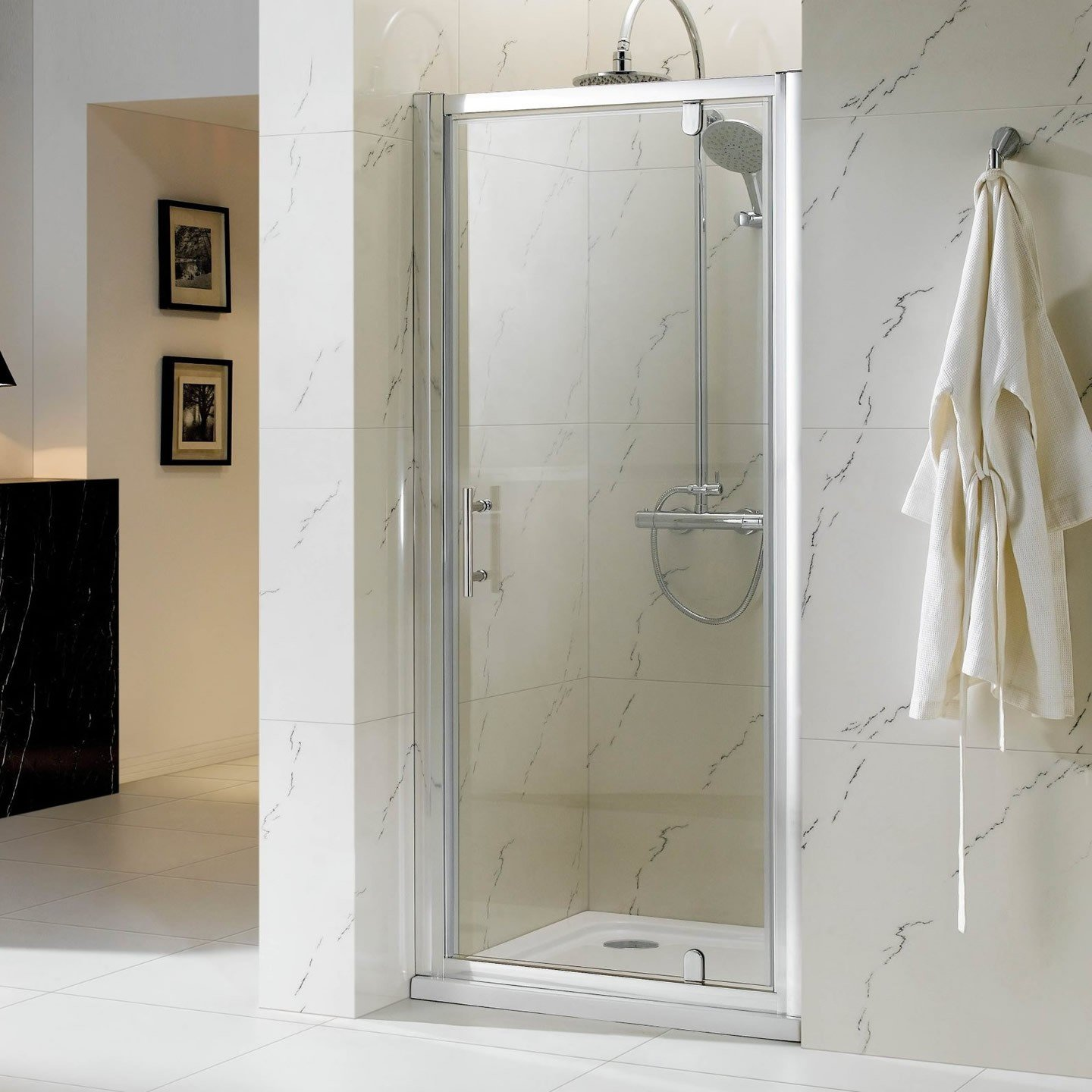Phoenix Pivot Shower Enclosure for Alcove   900mm  iBathUK       review and more information