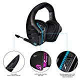 Logitech G933 Artemis Spectrum, Wireless RGB 7.1 Dolby and DST Headphone Surround Sound Gaming Headset, White (Color: White)
