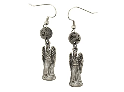 Doctor Who Don't Blink Weeping Angel Drop Earrings: Jewelry
