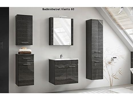 Mobili per stanza da bagno DOMA TIC GRIGIO CON LAVANDINO - grigio, Komplettes Set 60 cm