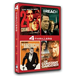 ALL-STAR THRILLERS: 4 MOVIE COLLECTION - 21 Grams, Breach, The American, The Constant Gardener