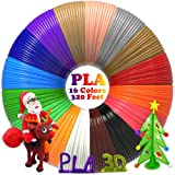 PLA 3D Pen Filament Refills(16 Colors, 20 Feet Each) Bonus 250 Stencil eBook - Dikale 3D Printing Pen Filament 1.75mm Total 320 Feet for DigiHero MYNT3D Hongdak iogo3D Canbor PAC