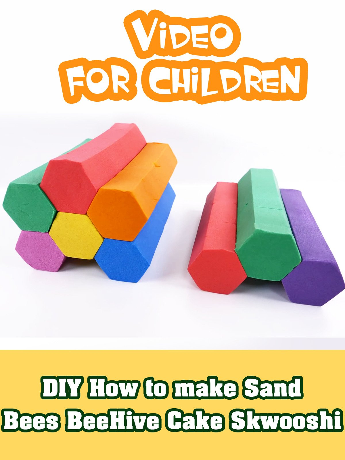 DIY How to make Sand Bees BeeHive Cake Skwooshi