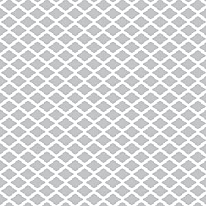 Smart Design Shelf Liner w/Decorative Adhesive - Wipes Clean - Cutable & Removable Material - Easy Peel Design - Shelves, Drawers, Flat Surfaces - Kitchen (18 Inch x 20 Feet) [Metro Gray Lattice] (Color: Metro Gray Lattice, Tamaño: 18-Inch x 20-Feet)