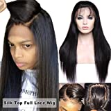 Glueless Silk Top Full Lace Wigs 100% Brazilian Human Hair 4x4