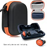 Featured Protective Case for Bose SoundSport Free Truly Wireless Sport Headphones Charger Box, Mesh pocket for Cable and other accessories (Frosted Black with orange zipper) (Color: Black, Tamaño: Compack Size)