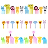 GO FRESH Food Picks For Kids, 30 pieces Animal Bento Deco Set, Mini Bento Decorations Set for Baby Showers and Kids Parties, Mini Cartoon Toothpick, Bento Lunch Deco (Color: Yellow, Blue, Green, White)