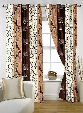 Story@Home Nature Eyelet Geometrical Basic Polyester Designer 4 ...
