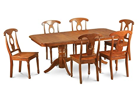 East West Furniture NANA5-SBR-W 5-Piece Dining Table Set