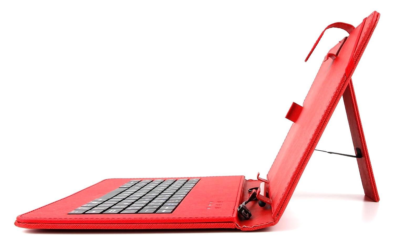 10 Zoll Hülle mit QWERTZ-Tastatur für