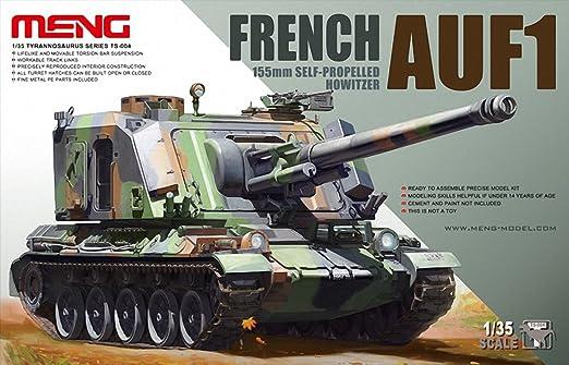 Meng, « Modèle 1 :35, obusier automoteur français AUF1 SPG », 155mm (multicolore)
