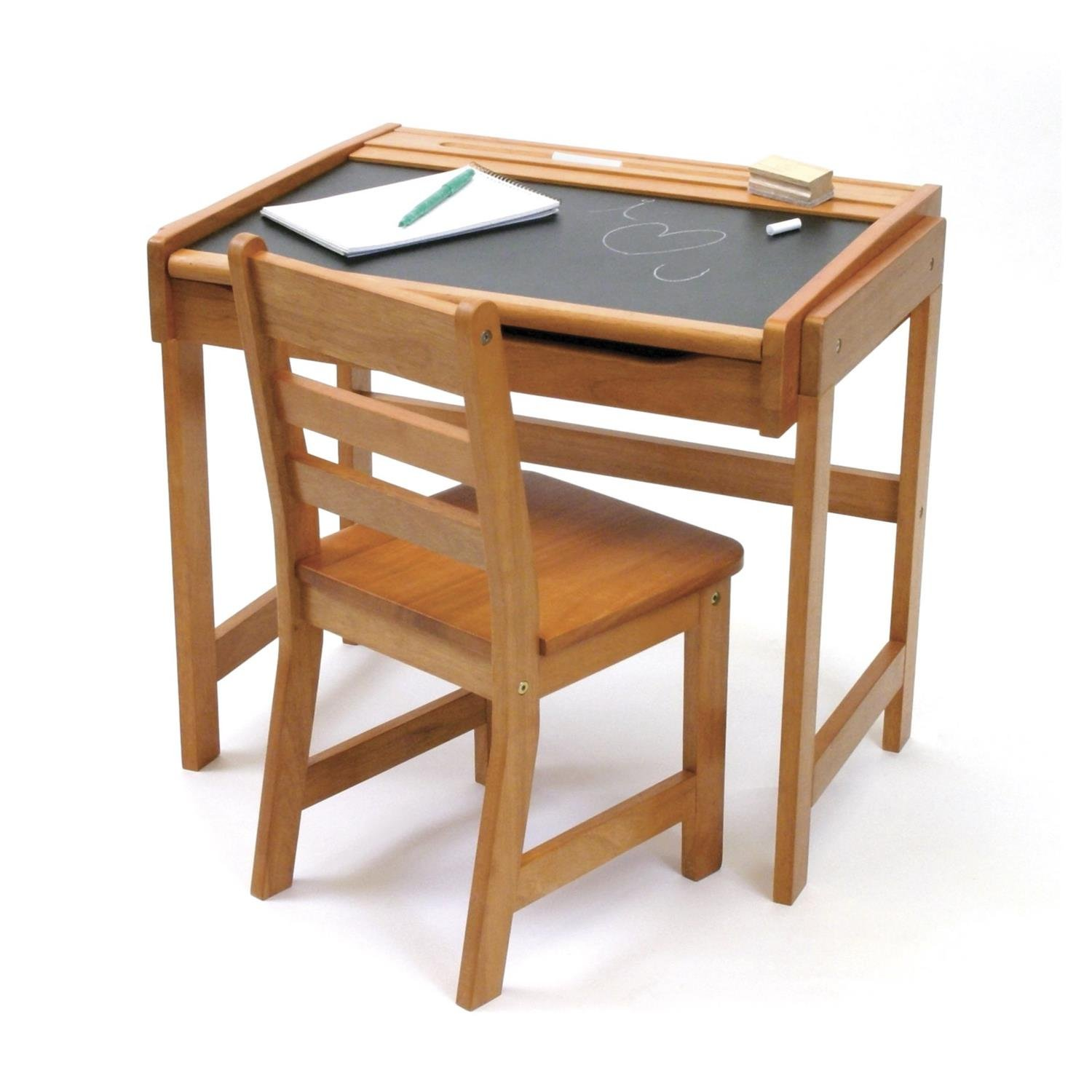 White Childs Desk And Chair