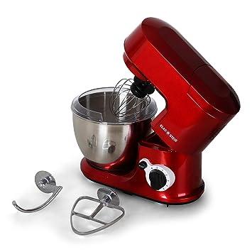 Küchenmaschine Knet  Rühr Teig Maschine Kneter Gerät Stand Mixer Rot Schwarz NEU