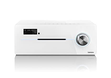 Lenco DR-88 BT WHITE Radio portable Blanc