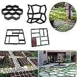 Garden Walk Maker Mould Gardening 8/9 Grids Pathmate Stone Mold Paving Concrete Stepping Pavement Paver By Makaor (Model G=Grid:30x 30 x 4 cm, Black) (Color: Model G=Grid:30x 30 x 4 cm, Tamaño: Large)