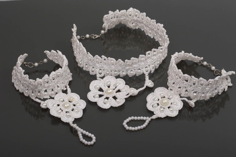 Hochzeit Schmuck Set handmade schöne Armbänder Halskette Samen Mode Accessoires jetzt kaufen