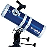 ExploreOne Telescope, 114mm Apeture Astronomy Reflector Telescope 500mm AZ Mount , Travel Scope with Tripod & Finder Scope, Good Partner to View Moon and Planet