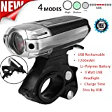 GBSELL Top Set Led Bicycle Light Usb Rechargable Bike Lights Front Lamp Safety